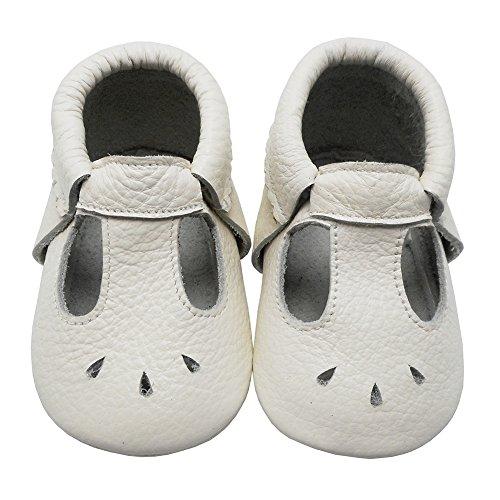 Mejale Bébé En Semelles Baby À Chaussures Mocassins D'été Cuir E2YHWD9I
