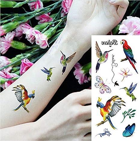 yyyDL Etiqueta engomada del tatuaje temporal Fantasy Color Freedom ...
