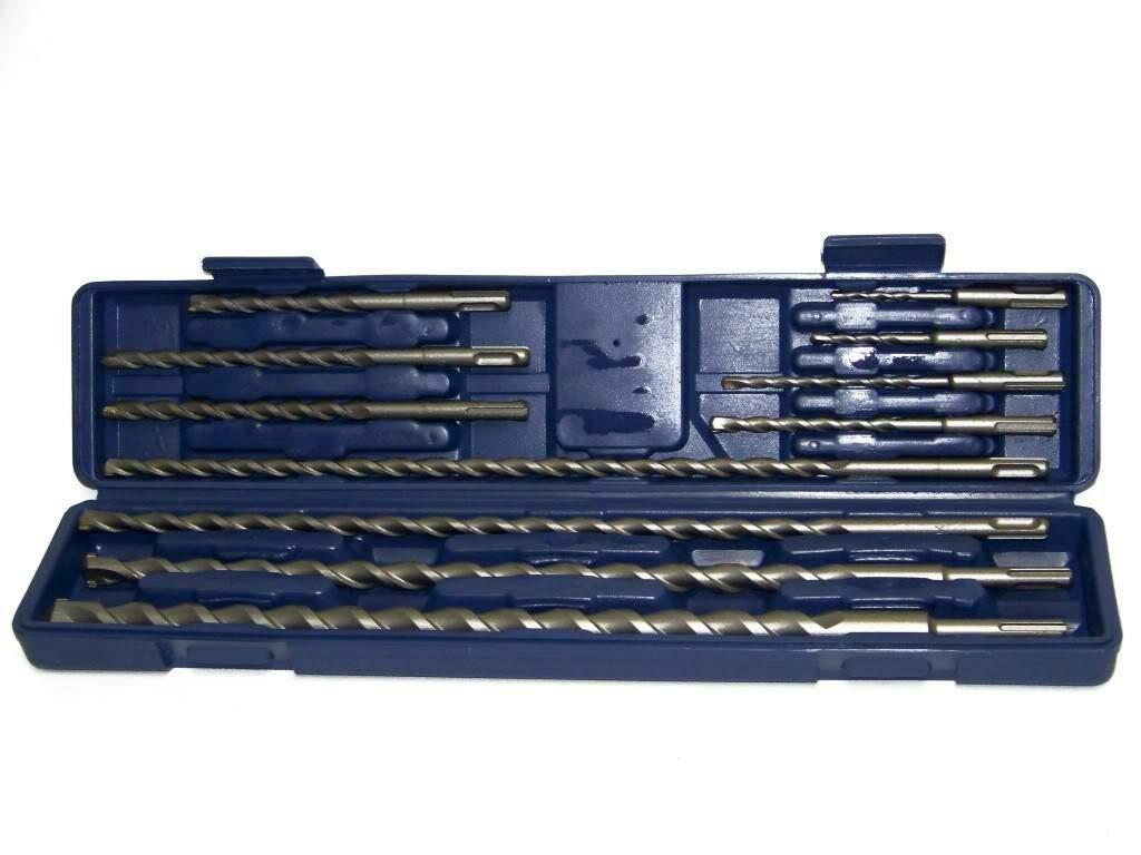 12-20 mm x 210 mm  Betonbohrer Hammerbohrer SDS PLUS Bohrer Set 5 tlg