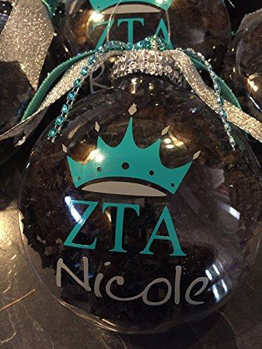 ZTA Christmas Ornament, Zeta Tau Alpha, Sorority Ornament, greek letter ornament, personalized ornament, christmas gift
