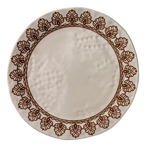 Merritt Medallion Dinner Plate, Lace Ivory (Tile Lace Ivory)