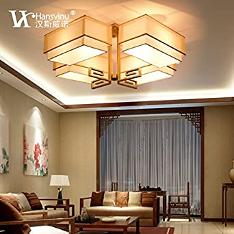 syrrcr moderna lámpara de techo chinos minimalis Mesas Salón ...