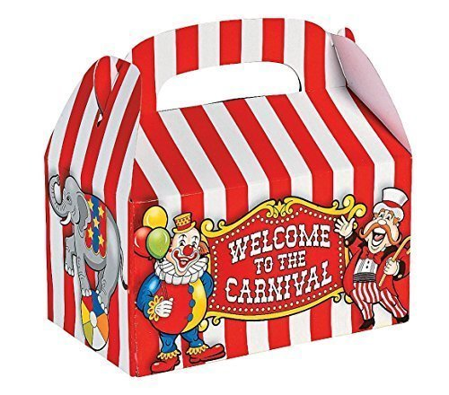 Fun Express Under the Big Top Empty Favor Boxes Party Accessory (3-Pack of 12)