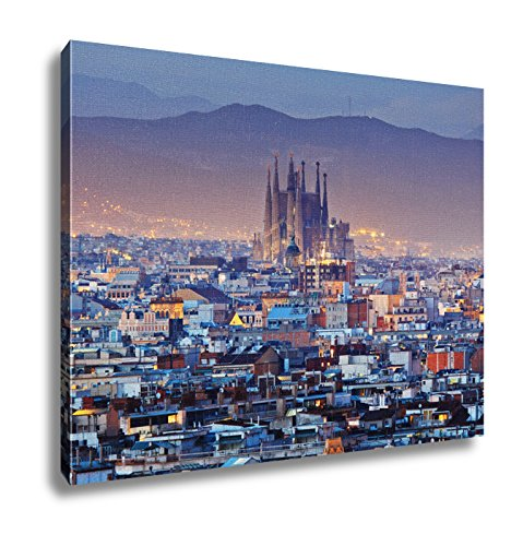 Ashley Canvas, Barcelona City In Spain, 24x30 by Ashley Canvas