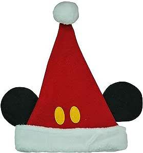 Mickey Mouse Santa Light Up Christmas Holiday Ear Hat Beanie Cap 3D ADULT Disney