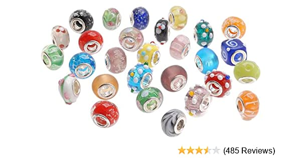 affd38efd Beadaholique Glass Lampwork European Style Beads, Assorted Shapes and  Colors, Clear