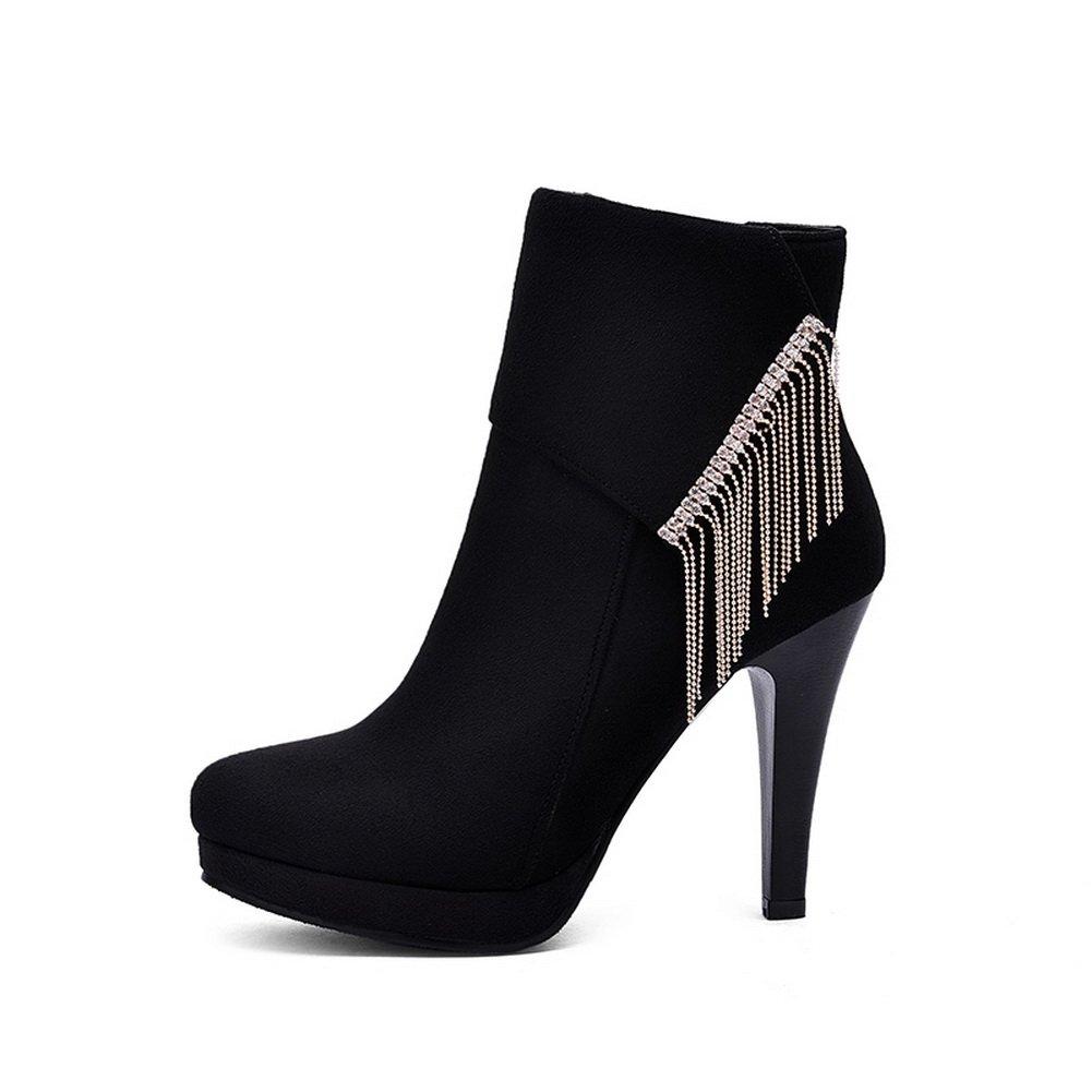 AdeeSu Womens Casual Dress Slip-Resistant Comfort Urethane Boots SXC01697