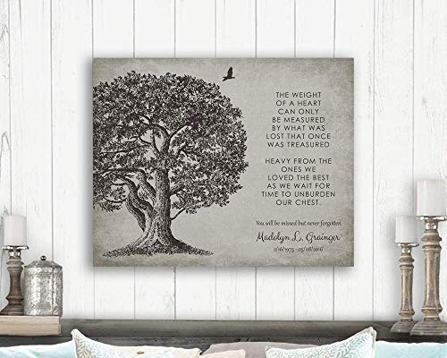 Memorial In Loving Memory Poem Oak Tree Sympathy Gift For Family Custom Art Print #1328 Paper - Poems Loving Memory