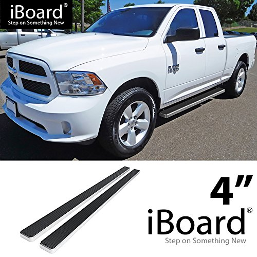 For 2009-2018 Dodge Ram 1500 Quad Cab Pickup 4-Door (Nerf Bar | Side Steps) 4' eBoard Running Boards HD Ridez