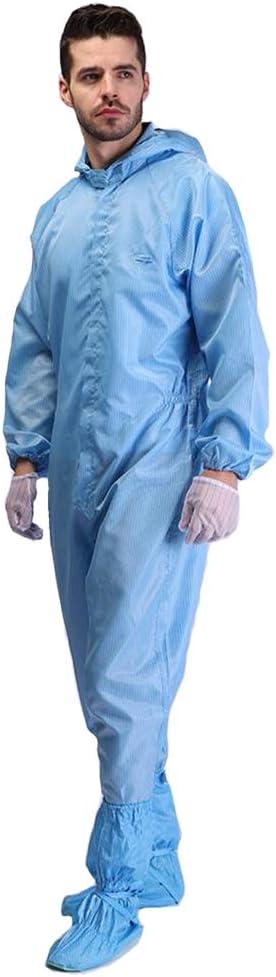 Staubdichte Kleidung Aus Wasserdichtem Und Antistatischem Material Farzeo Schutzkleidung Kann Wiederverwendet Werden Um Das Eindringen Von Bakterien Und Viren Wirksam Zu Verhindern,Blau,2XL