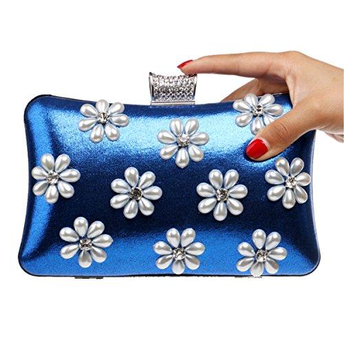 Bag Blue Dinner Banquet Dinner Clutch Handbags Bag Evening Bag Bag qzRBzYgx