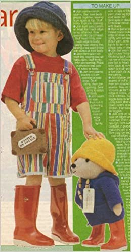 Paddington Bear Toy Knitting Pattern Measurements 48cm 19 Tall