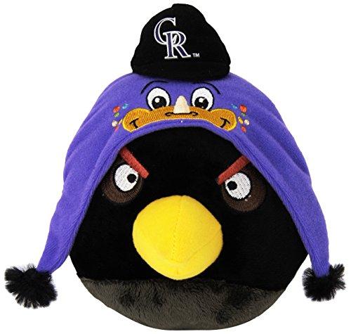 Colorado Plush Rockies (MLB Colorado Rockies Angry Bird Plush Toy, Small, Black)