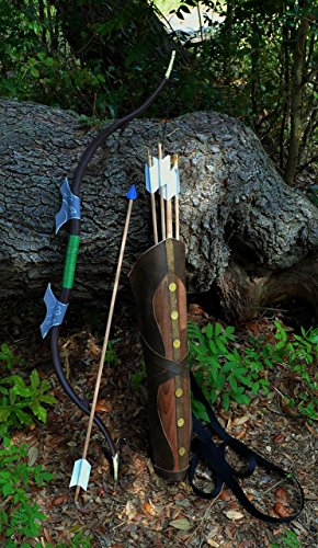 The Legend of Zelda Twilight Princess Bow, Quiver, and 6 Cosplay Arrow Set by CastleWallCreations