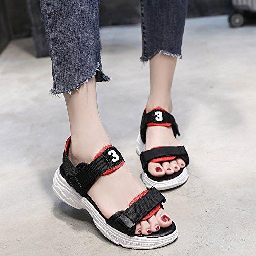 Hembra Salón Y Terraza De Verano Gruesas Zapatos El Bizcocho De Terraza Mujer c77809