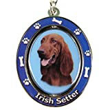 E&S Pets Llavero irlandés Spinning Pet Key Chains, Centro de Doble Cara Giratorio con Rostro irlandés Hecho de Metal de Alta Calidad único Elegante irlandés Setter Regalos