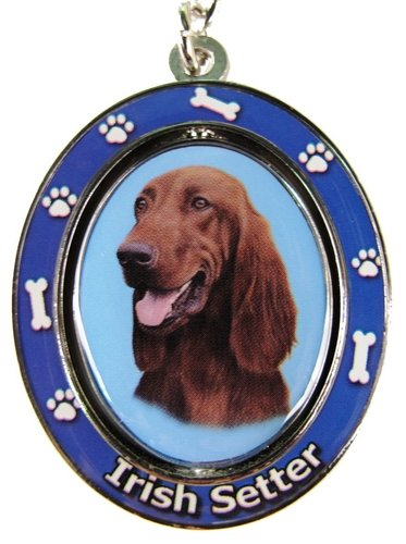 Irish Setter Key Chain Spinning Pet Key ChainsDouble Sided Spinning Center with Irish Setters Face Made of Heavy Quality Metal Unique Stylish Irish Setter Gifts