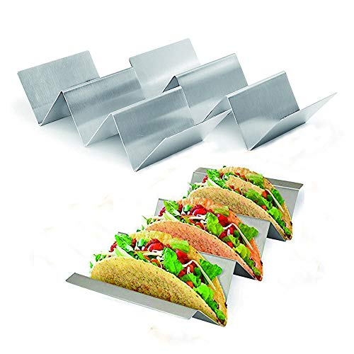 Happy Reunion 3 Pack Wave Shape Holders Stainless Steel Mexican Food Rack 8