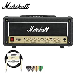 marshall dsl15h 15w all tube guitar amp head kit includes cable and pick sampler. Black Bedroom Furniture Sets. Home Design Ideas