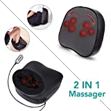 Naipo Shiatsu Foot Massager with Heat, Electric Feet Warmer and Back Massager with Kneading and Vibration Function, Detachable Cover for Foot Back - Home and Office