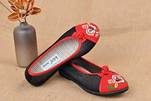 Edad Net Tela Mujer HBDLH De Verano Red El Zapatos Respira Comodo Zapatos De De Pedal Shoes Beijing black Zapatos Zapatos De Madre Mediana Edad Viejo Viejos De B1BzwqY
