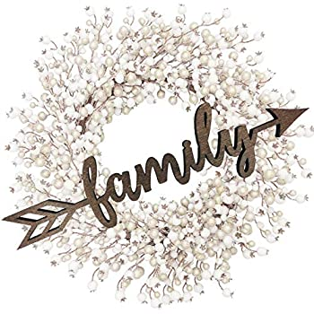 Family Arrow Wood Sign Home Décor Wall Art Decor Rustic Front Door Unfinished 12