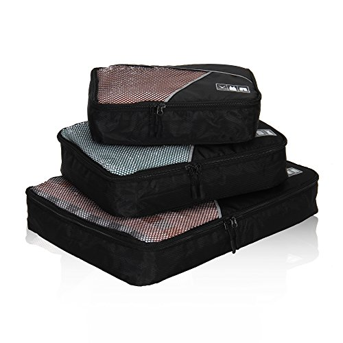 Hynes Eagle Travel Packing Cubes 3 Pieces Value Set, (3 Piece Mesh Luggage Set)