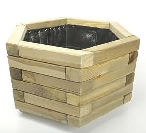 Maceta hexagonal Jardinera 50, madera