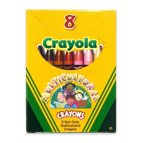 Wholesale Crayon - Wholesale CASE of 25 - Crayola Multicultural Crayons-Multicultural Crayons, Nontoxic, 8/BX, Assorted