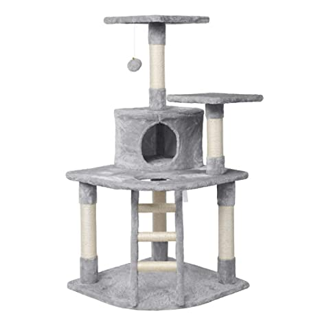 Amazon.com: Yaheetech - Árbol para gatos de lujo con postes ...