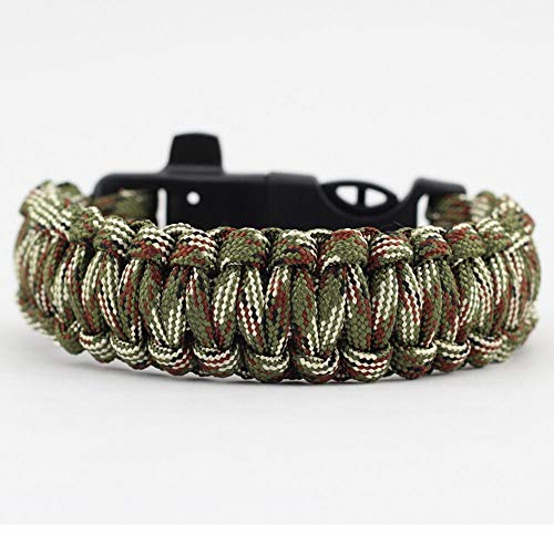Watch Bracelet Clip - Glumes Survival Bracelet, Survival Paracord Bracelet, Survival Gear Kit Emergency Knife, Whistle, Compass, Fire Starter for Camping, Climbing, Waterproof Gift for Boys (C)