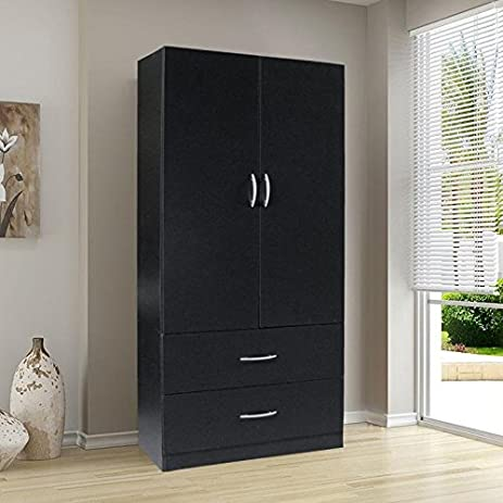 Bedroom Armoire Wardrobe Storage Closet Cabinet Furniture Clothes Organizer  Wood Dresser New