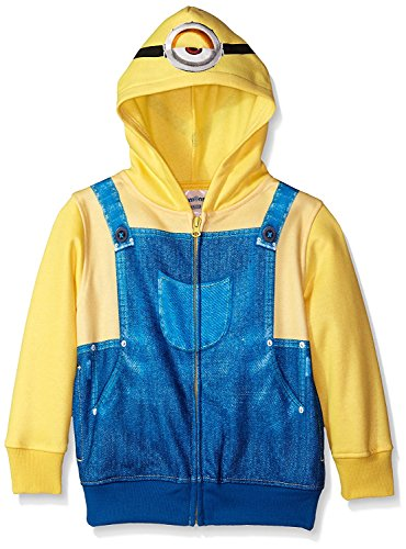 Despicable Me Little Boys' Character Hoodie, Yellow, 5/6