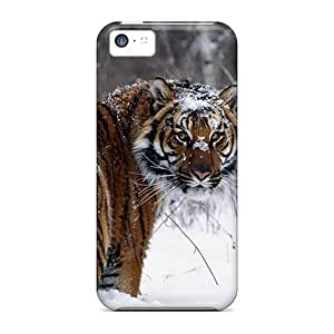 New Arrival Case Cover With HDn2763ykEk Design For Iphone 5c- Snowy Tiger