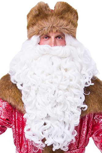Russian Ded Moroz Costumes - Santa Claus Beard and Wig, Christmas