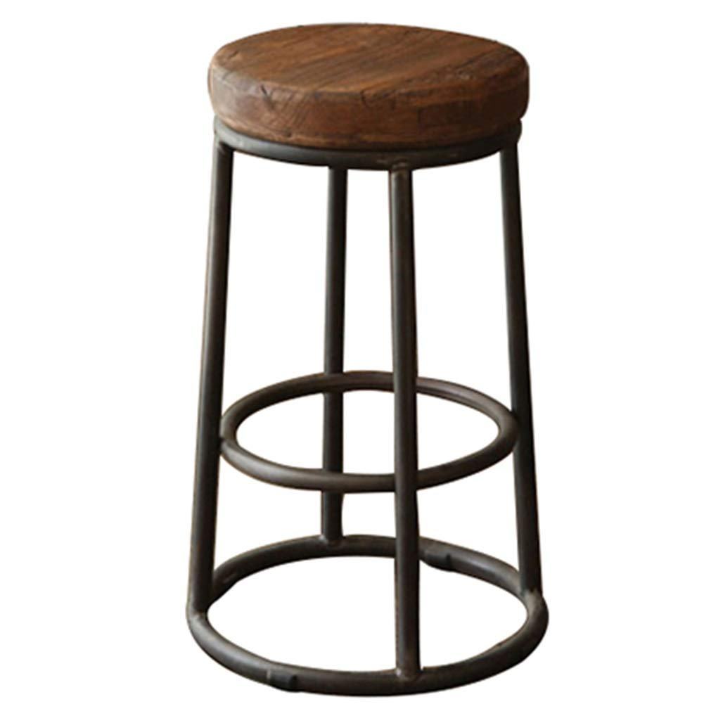 Brown 30X38X55CM BYPING Pouffes and Stool Upholstered Footstools Metal Iron Art Wear Resistant Retro Bar Fashion, 7 Sizes (color   Brown, Size   30X38X55CM)