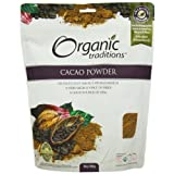 Organic Traditions Cacao Powder 454 g (order 6 for trade outer)