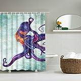 Yumian New Custom Octopus Steampunk Ocean Waterproof Bathroom Shower Curtain 180x180cm