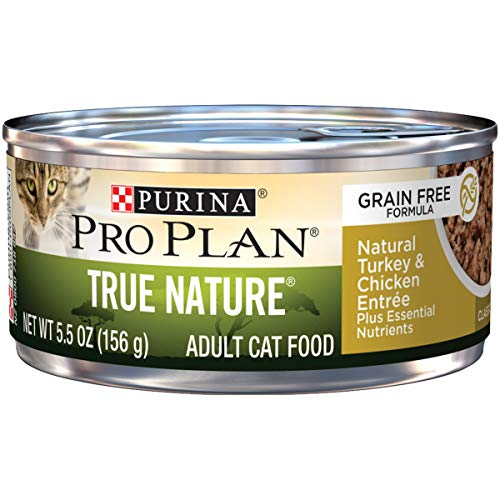 (Purina Pro Plan Natural, Grain Free Pate Wet Cat Food; TRUE NATURE Natural Turkey & Chicken Entree - 5.5 oz. Can)