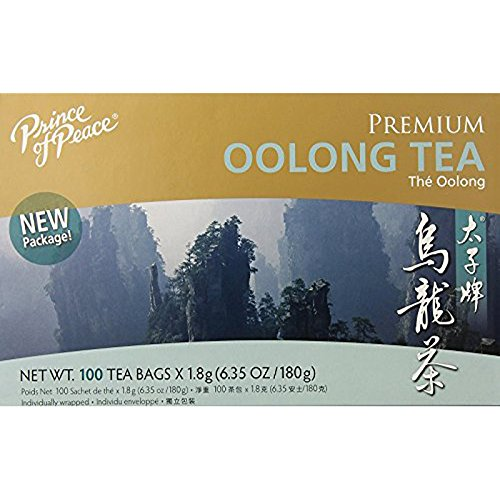 Prince of Peace Oolong Tea - 100 Tea Bags net wt. 6.35oz (180g) (Best Oolong Tea Brand)