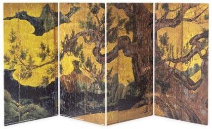The Yanoman 480 Piece Cypress Figure Folding Screen 2301-01 Art Stand Puzzles Folding Screen (21 x 11.2cm x 4 Set) (Japan Import) by: Amazon.es: Juguetes y juegos