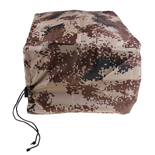 Baosity Oxford Fabric Trailerable Outboard Boat Motor Engine Cover 2-300 Horsepower - Desert Camo Heavy Duty Water, Mildew, and UV Resistant - for 2-15 HP Engines