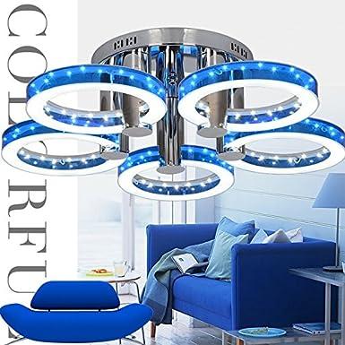 Moderno LED Lampadario plafoniera con lampada da soffitto a 5 testa per camera cucina e soggiorno sala da pranzo Red