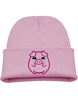 Cute Pig Unisex Baby Children Cute Knit Beanie Hat