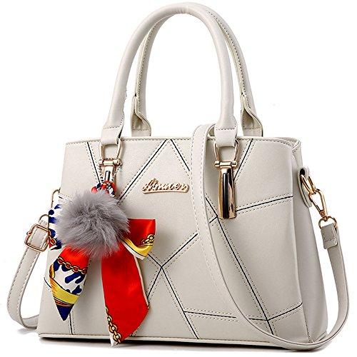 for and Tote Shoulder Women Handbags Beige Bags Purses PU ZgUnEqEx
