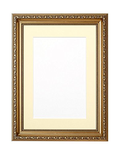 Paintings Frames Mounted Ornate Shabby Chic Picture/Photo/Poster Frame With An MDF Backing Board Gold Frame With Ivory Mount 14