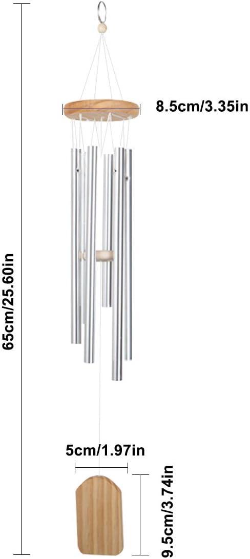 Carillons de Vent pour ext/érieur Tube en Aluminium en Bois Massif Carillons /éoliens pour Patio Maison d/écoration Jinlaili Carillon /à Vent de Jardin Bells Carillon /éolien Cloches Carillons /éoliens
