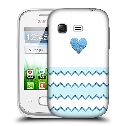 Official Monika Strigel Blue Avalon Heart Hard Back Case for Samsung Galaxy Pocket S5300 (Samsung Pocket S5300 compare prices)