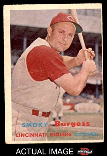 1957 Topps # 228 Smoky Burgess Cincinnati Reds (Baseball Card) Dean's Cards 2 - GOOD Reds