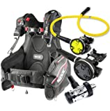 Seac Ego BCD Scuba Gear BC Regulator Package Din, Large